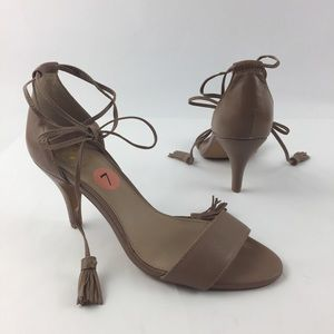 Vince Camuto Vp-Mariya Lace Up Tassel Heels Sandal